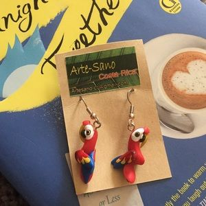 Jewelry - Handmade parrot earrings